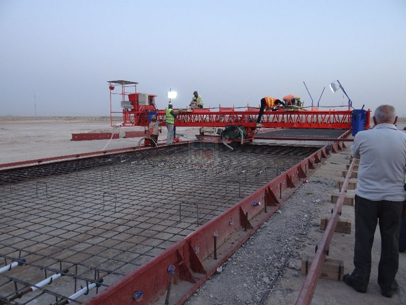 Unisteel Rcp 750 Working In Iraq At Airport Concrete Paving Group Of Companies Engineering Works