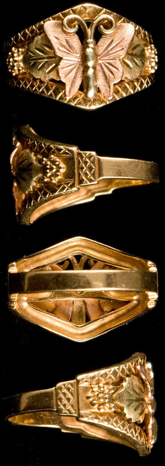14k Black Hills Gold Ring