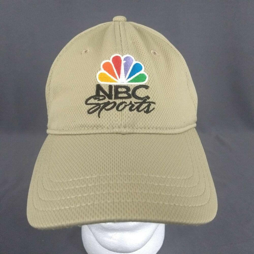 NBC SPORTS Strapback Cap Golf Hat Pukka Beige Tan