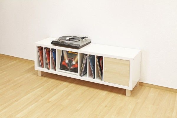 Ein Hochbett aus Ikea Kallax Regalen # Boden # Kallax