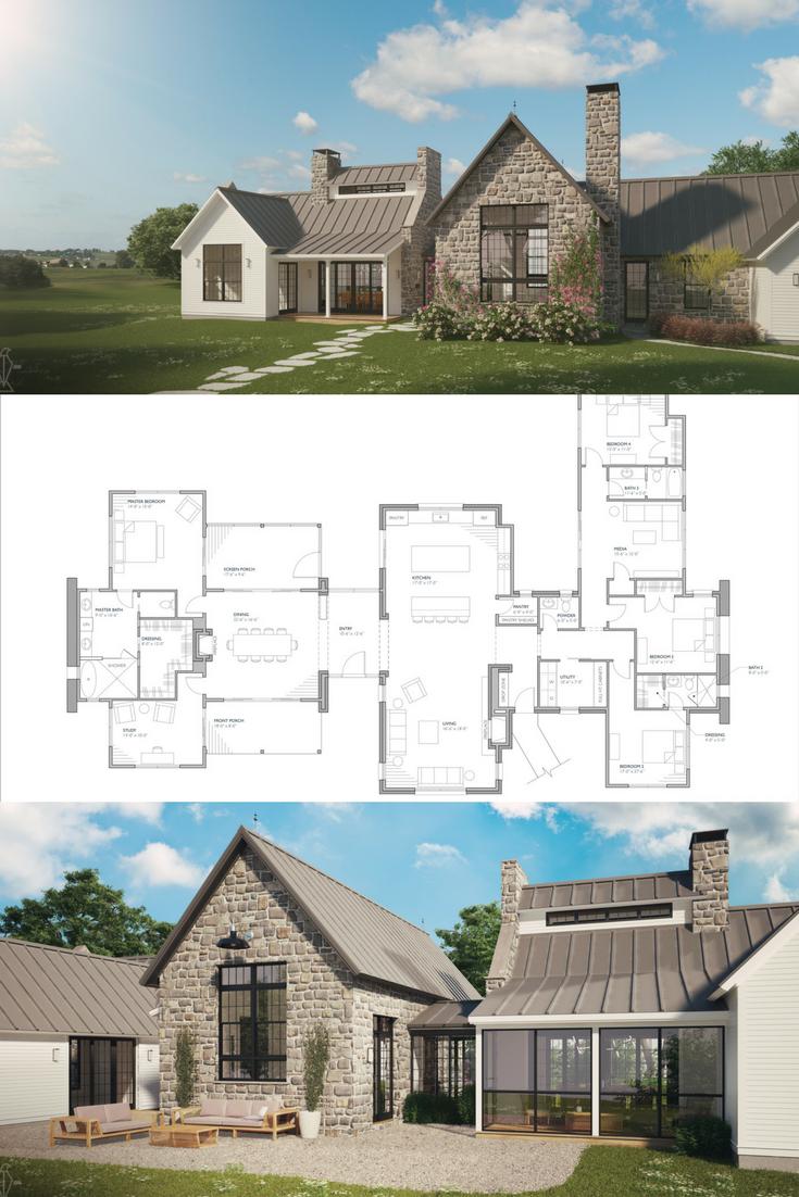 Ferrandaise Modern Farmhouse Floorplan House Plans Farmhouse Modern Farmhouse Plans