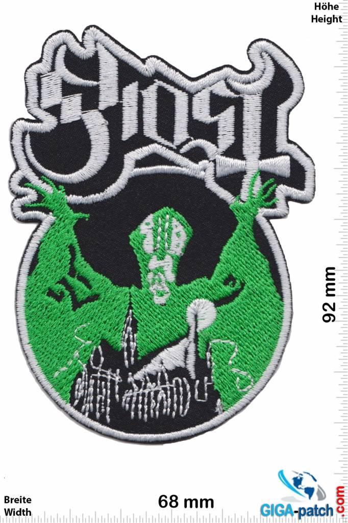 Ghost Ghost Green Heavy Metal Band Heavy Metal Patches Heavy Metal Bands Metal Bands