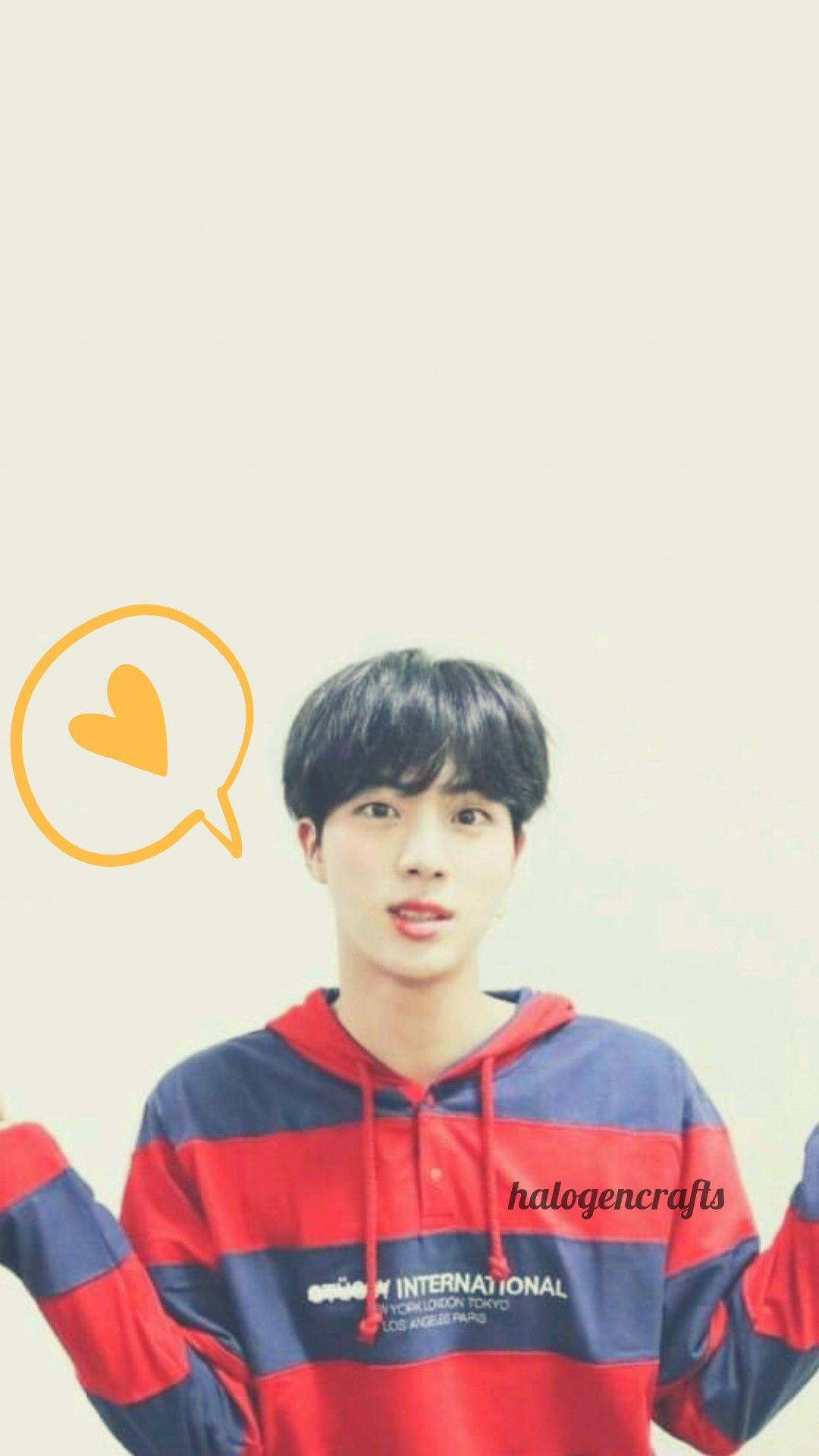 Bts Jin Wallpaper Halogencrafts Bts Jin Wallpaper Lockscreen Created By Halogencrafts Don T Edit Bts Jin Bts Wallpaper Lockscreen