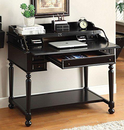 Custom Homeoffice Desk: Lexden Secretary Desk With Foldout Writing Tray In Black