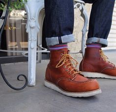 Red wing boots moc