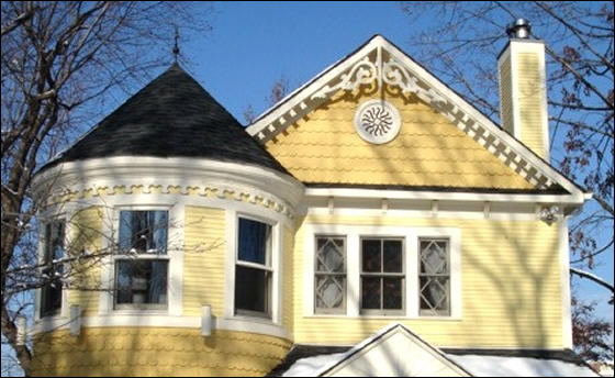 This gable end fretwork design just the gable wings not - Exterior house gable decorations ...