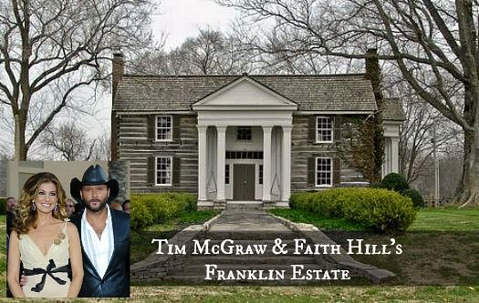 Faith Hill And Tim Mcgraw Selling Farm In Franklin Tennessee Log