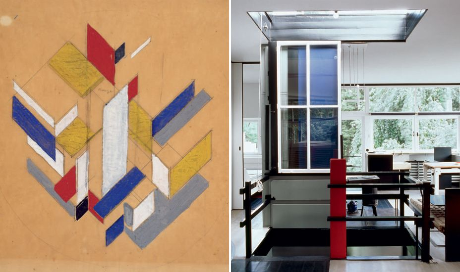 The Heart Of House Is Airy Light Filled Space First Floor Gerrit Rietveld Schrder