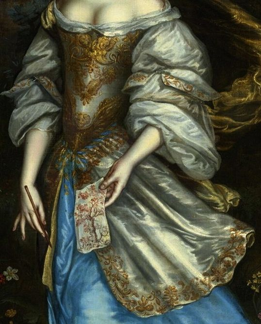 Painting by an unknown artist (detail) - Dutch School (17th Century).
