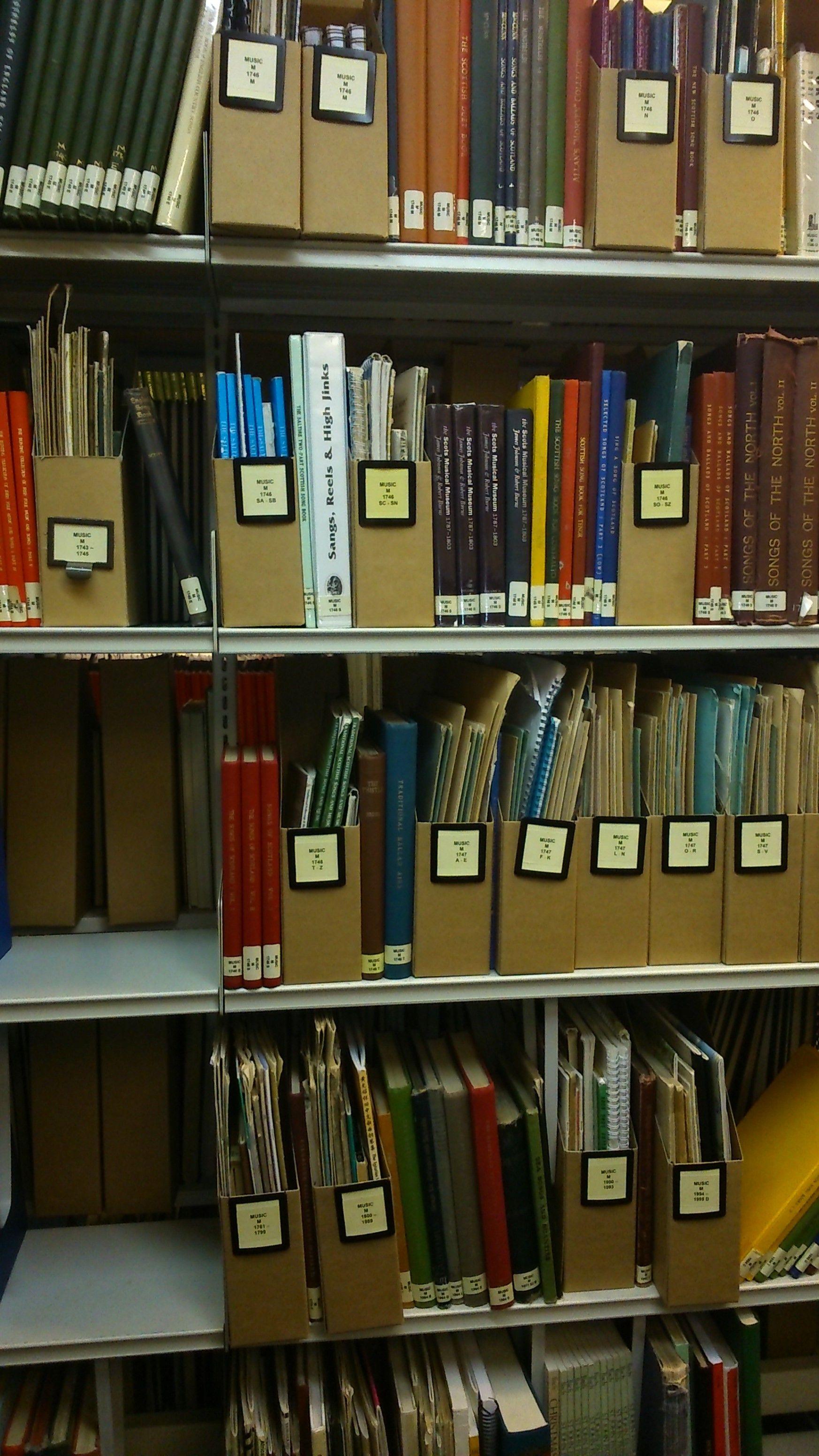 Whittaker Library Shelves