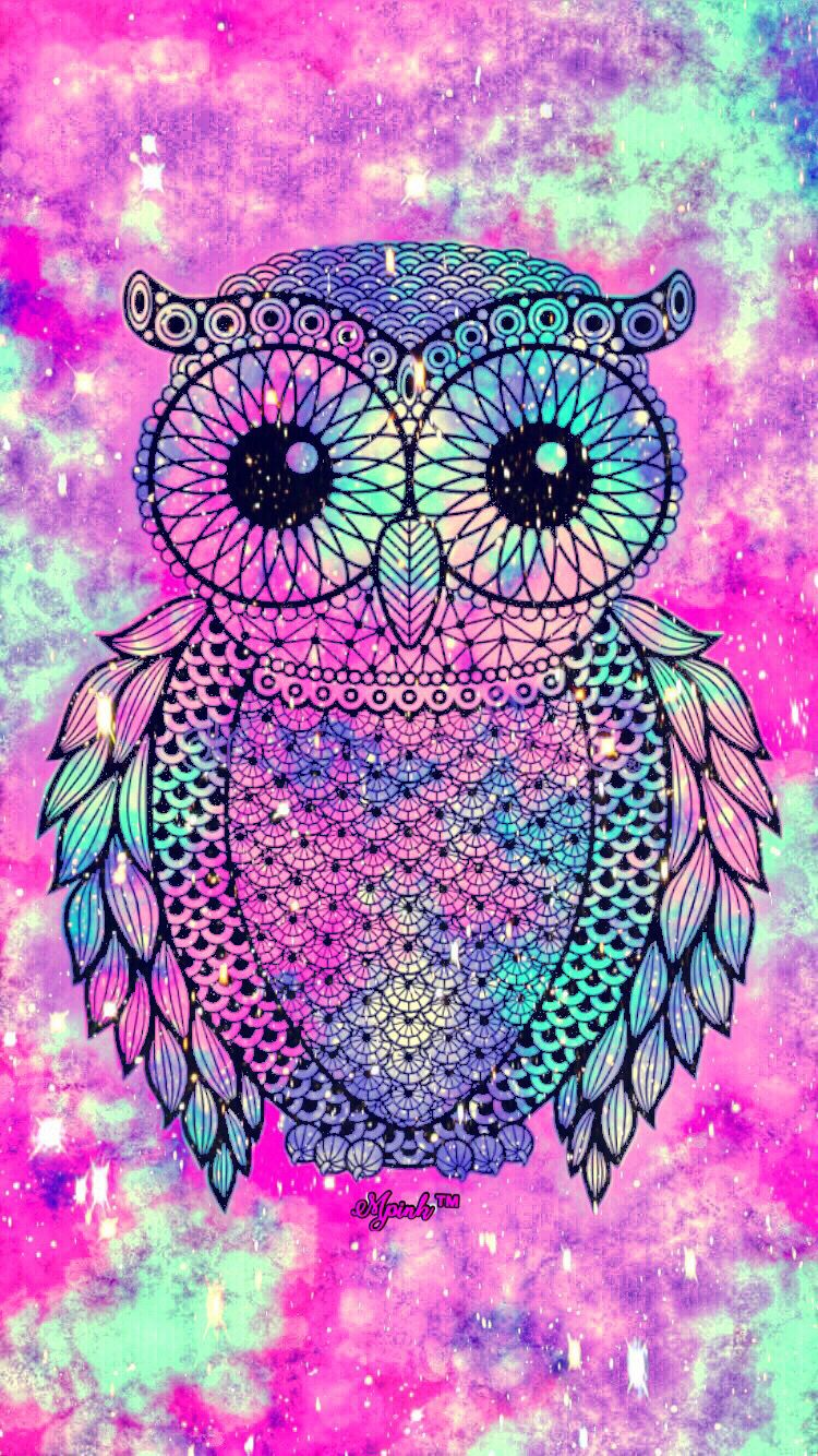 Cute Owl Galaxy Iphone Android Wallpaper Owl Lockscreen