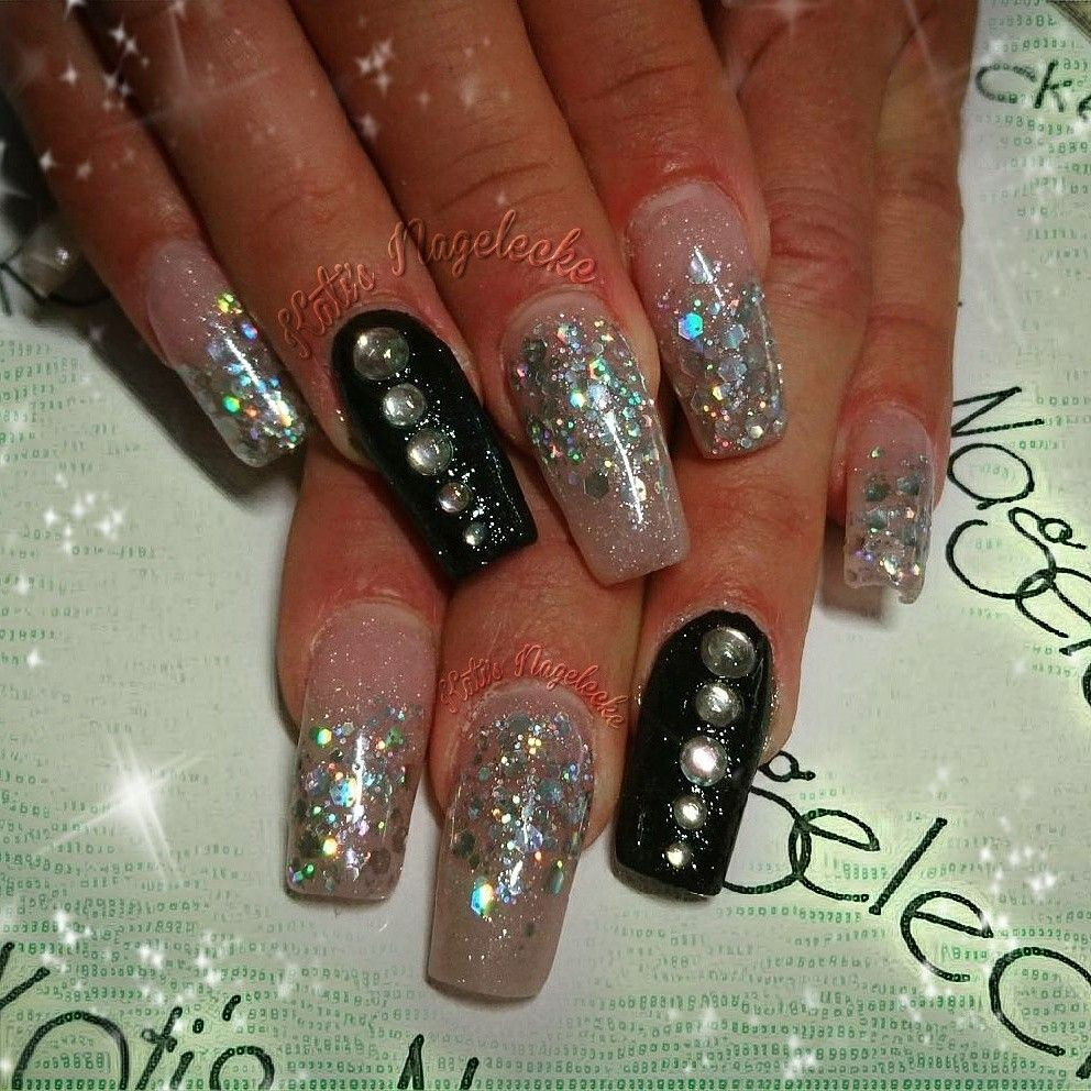 My Nailart Design #nails #nailfashion #nageldesign #glitter ...