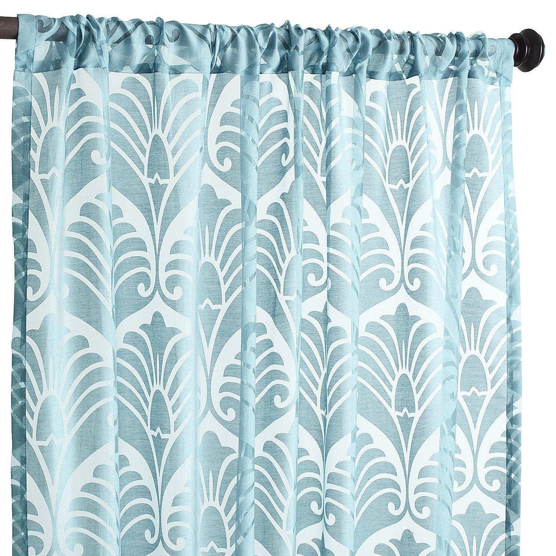 Peacock Burnout Curtain