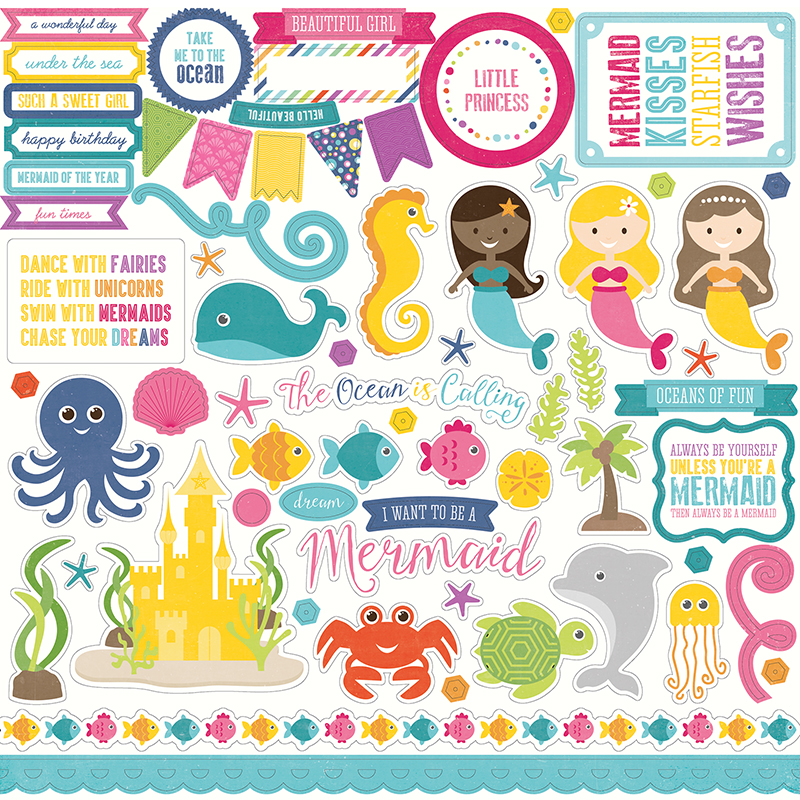 Echo Park ~ LET/'S BE MERMAIDS ~ Collection Kit ~ 12x12