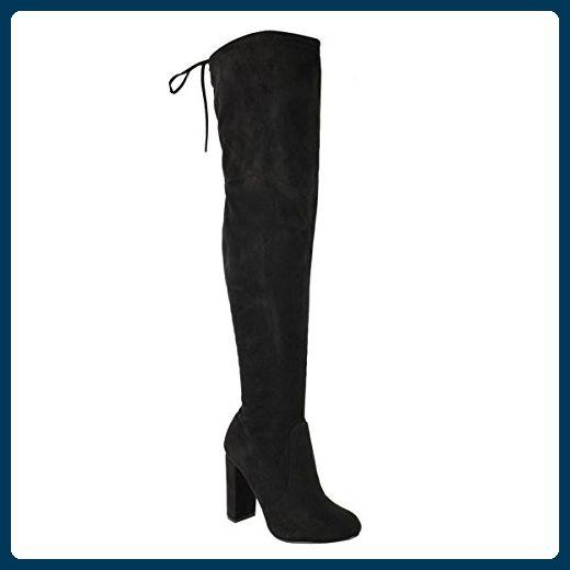 Knee Length Black Boots Uk