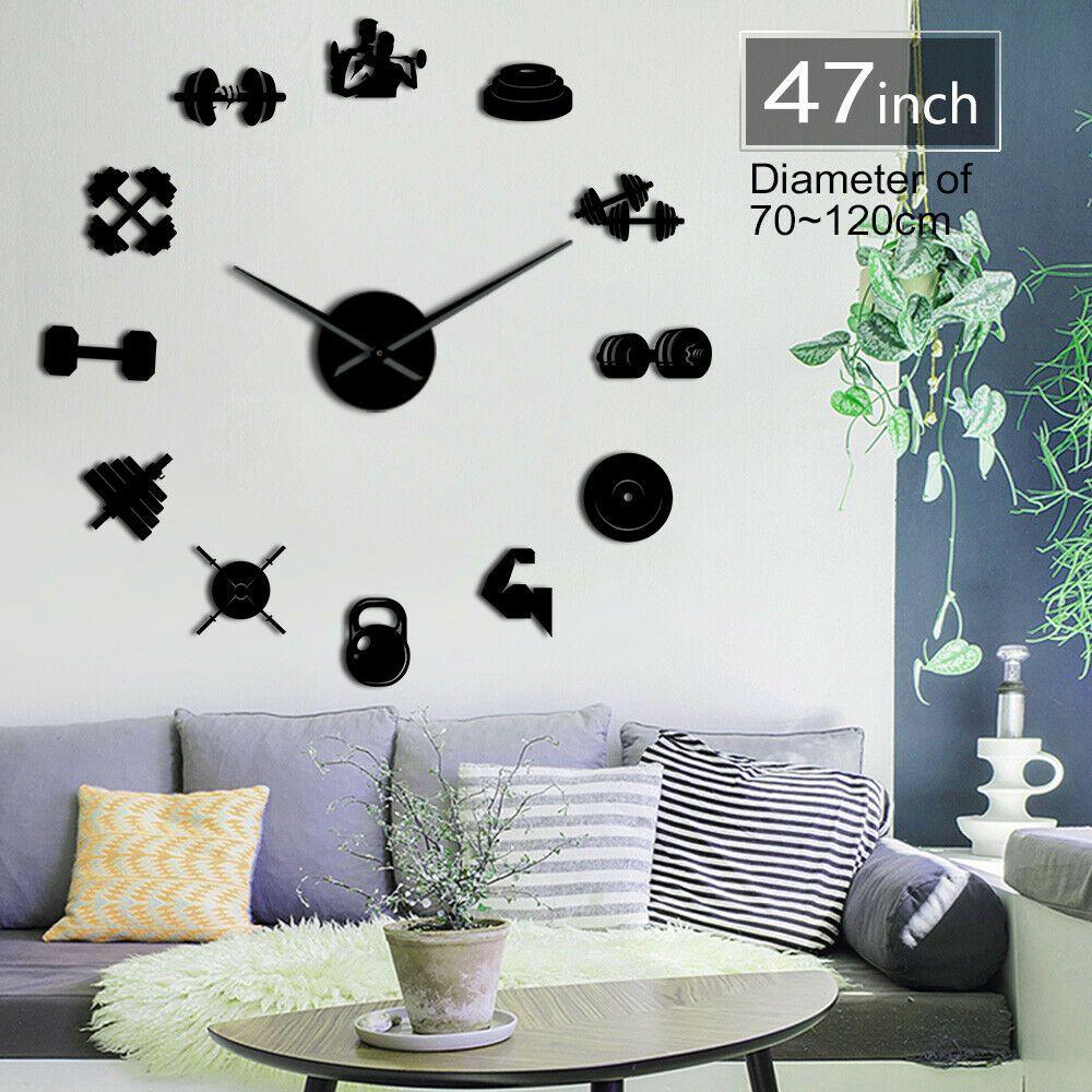 Gym Clock Diy Clock Wall Wall Clock Cartoon Clock Wall Decor
