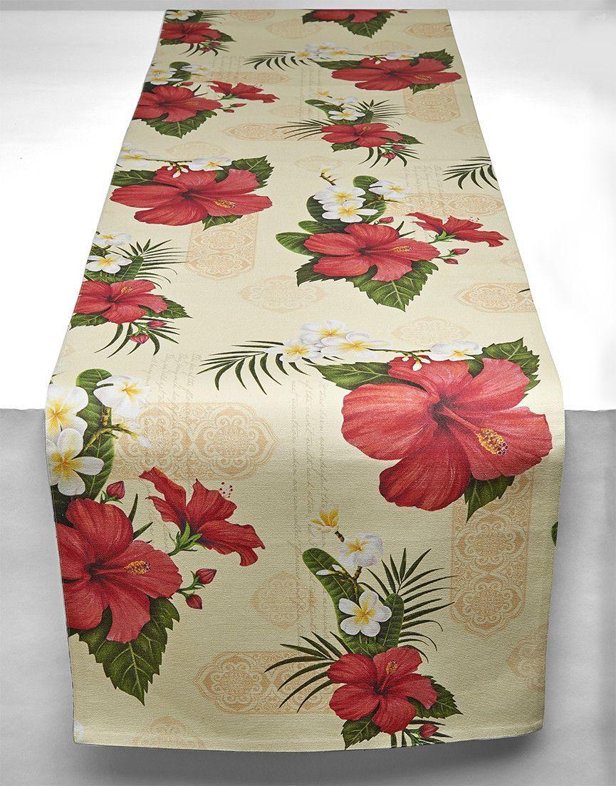 Hibiscus Blossom Table Runner