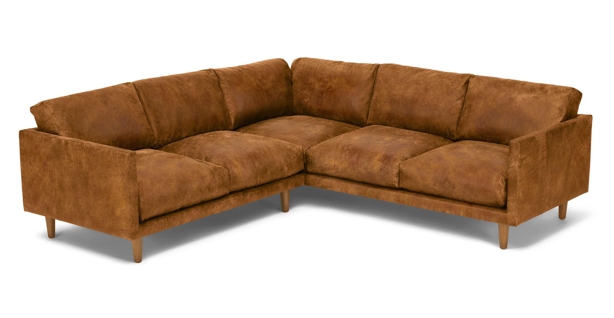 This is our softest sofa handcrafted with down filled cushions and a chic distressed leather
