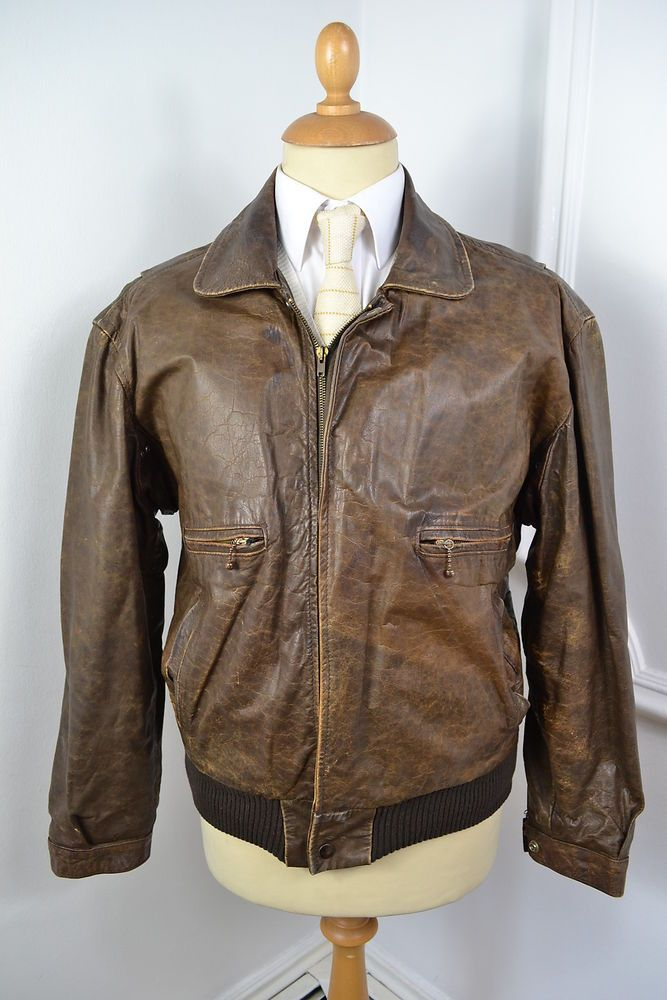 Electronics Cars Fashion Collectibles Coupons And More Ebay Vintage Leather Jacket Brown Leather Bomber Jacket Leather Bomber Jacket