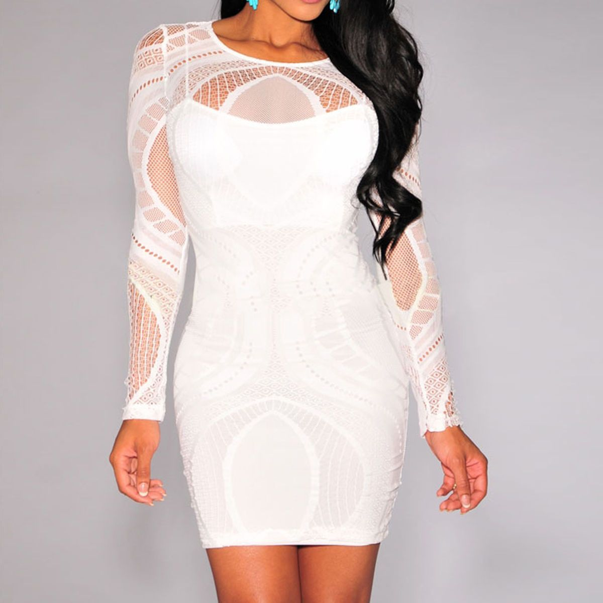 0b8f2f1a842 Women Sexy Bandage Bodycon Summer Evening Cocktail Party Long Sleeve Mini  Dress  Womensfallfashion