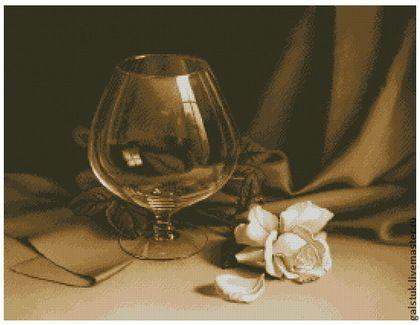 Вышивка свеча и роза схема