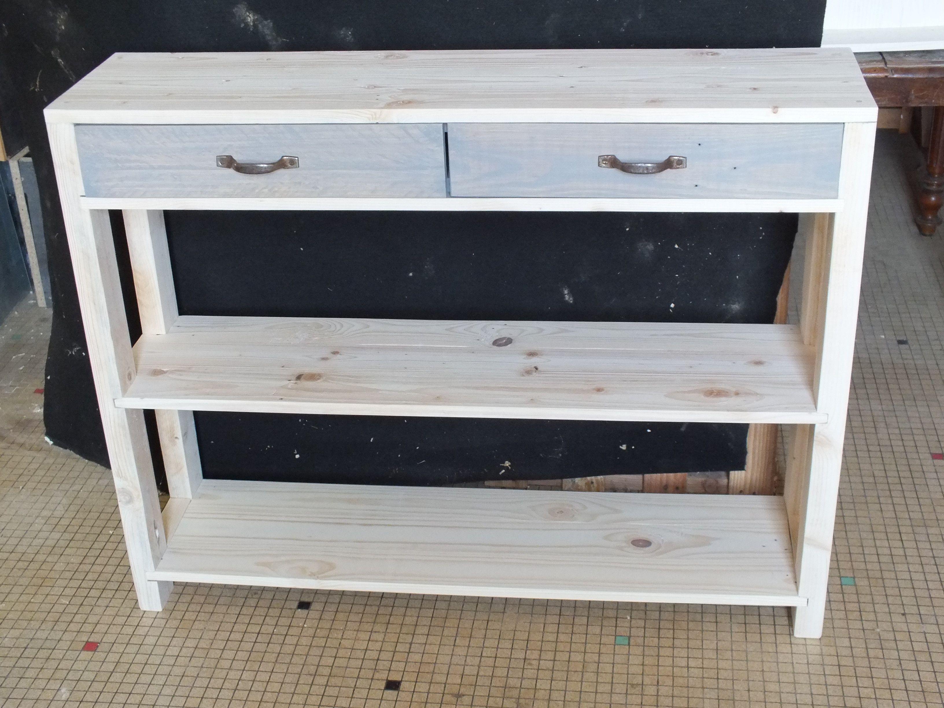 une console en bois de palette wooden pallet console console furniture wooden pallets and. Black Bedroom Furniture Sets. Home Design Ideas