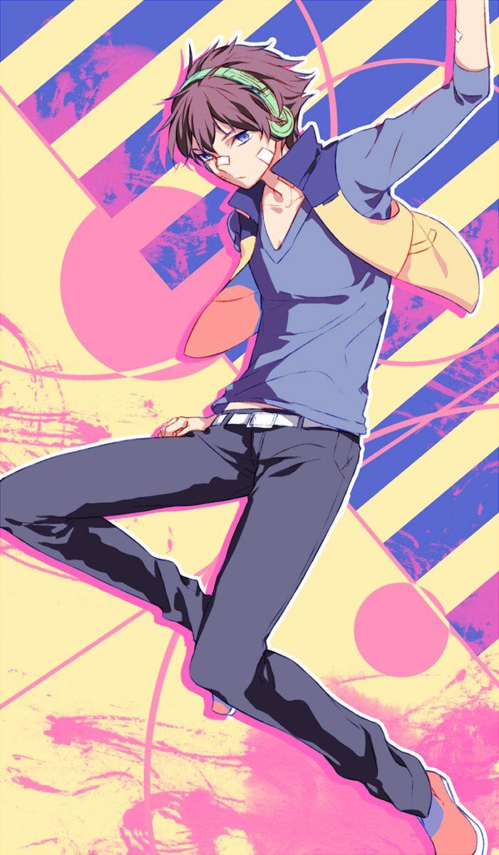Anime Picture Search Engine 1boy Belt Blue Eyes Brown Hair Hamatora Headphones Male Mysterymiharu Nice Hamatora Short Hai Hamatora Anime Tokyo Ghoul Manga