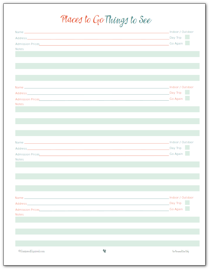 vacation planner printables vacation planner planners and vacation