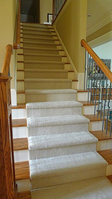 Great Way To Make Hardwood Stairs A Little Safer And Not So