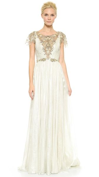 Goddess-like wedding gown by Marchesa