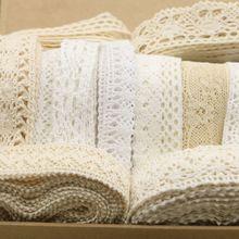 20 jardas/lote largura 1 cm -- 3 cm Aleatória laço de tecido de algodão/tecidos de vestuário DIY/Ofício materiais GUARNIÇÃO DO LAÇO(China (Mainland))