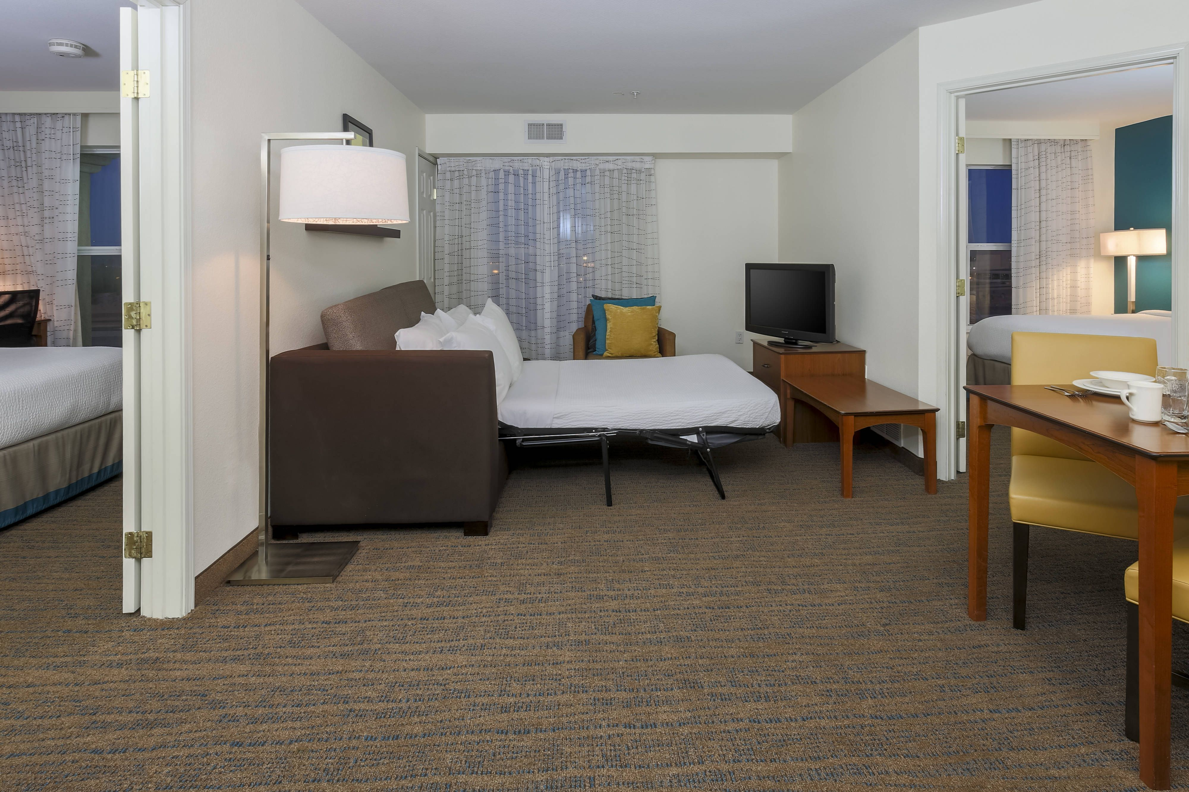 Residence Inn Las Vegas South Accessible Two Bedroom Suite Sofa