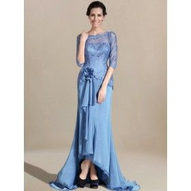 Lace Mother of the Bride Dress with Sleeves MO278