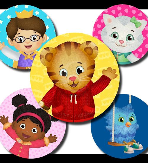 Daniel Tiger S Neighborhood 30 1 Circle Images Bottle Caps