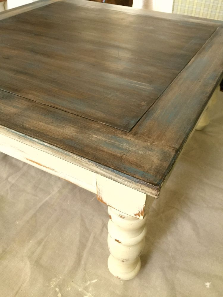 ... Old Wood Technique, Chalk Paint, How To, Painted Furniture  Kitchen  Table. Paint Chairs The Bluish/grey Color, Paint Hutch Distressed Antique  White