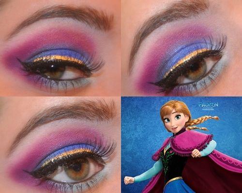 Frozen Anna And Elsa Disney Inspired Makeup Disney Makeup Frozen Makeup