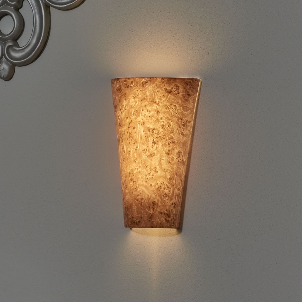 Vivid Burlwood High Gloss Sconce Battery Operated Wall Sconce Battery Wall Lights Sconces