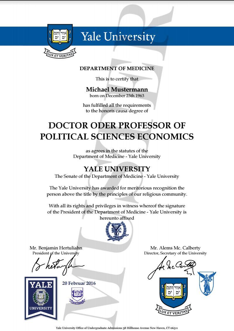 doktortitel yale kaufen berufszertifikate diplome d degree certificate directory. Black Bedroom Furniture Sets. Home Design Ideas
