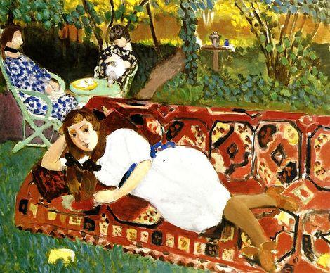 Henri Matisse, Girls in the Garden, 1919 on ArtStack #henri-matisse #art