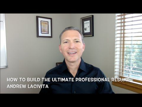 How To Build The Ultimate Professional Resume Via Andrew Lacivita Resume Writing Tips Find A Job Job