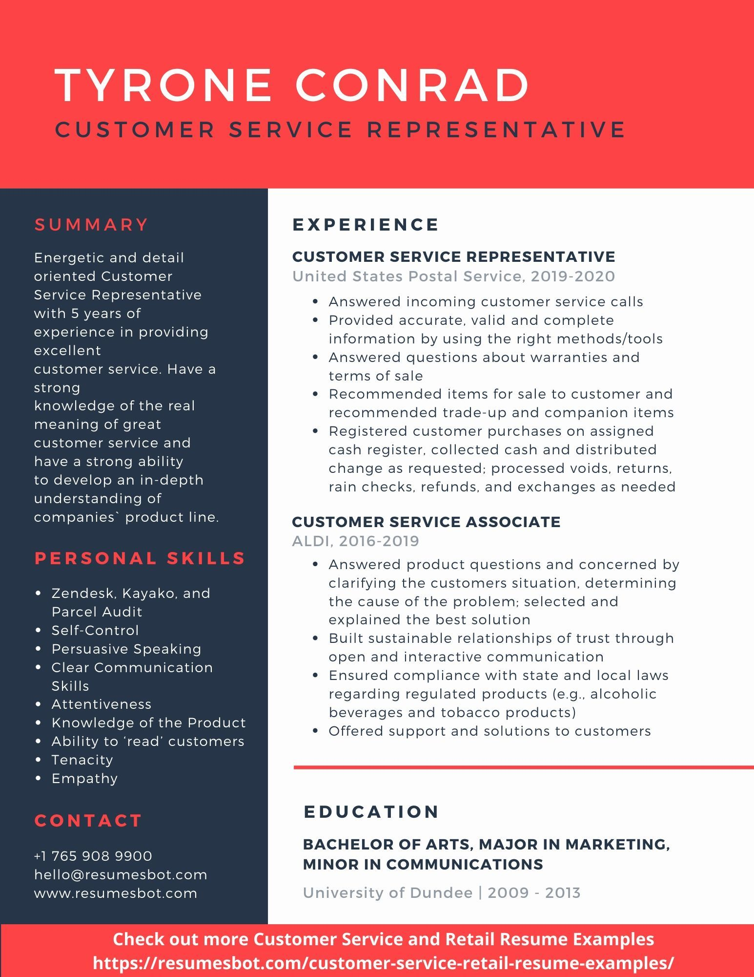 Customer Service Resume Samples and Tips [PDF+DOC] (With