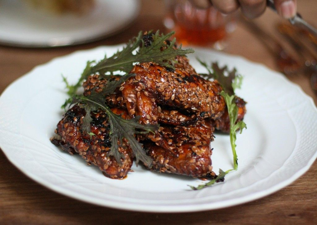 Chicken Wings, apple cider, flax seeds