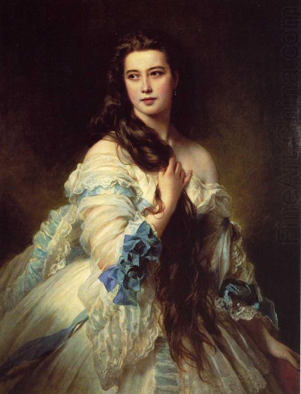 AMALIA DE LLANO BEAUTIFUL SPANISH AUTHOR WOMAN PAINTING ART REAL CANVAS PRINT