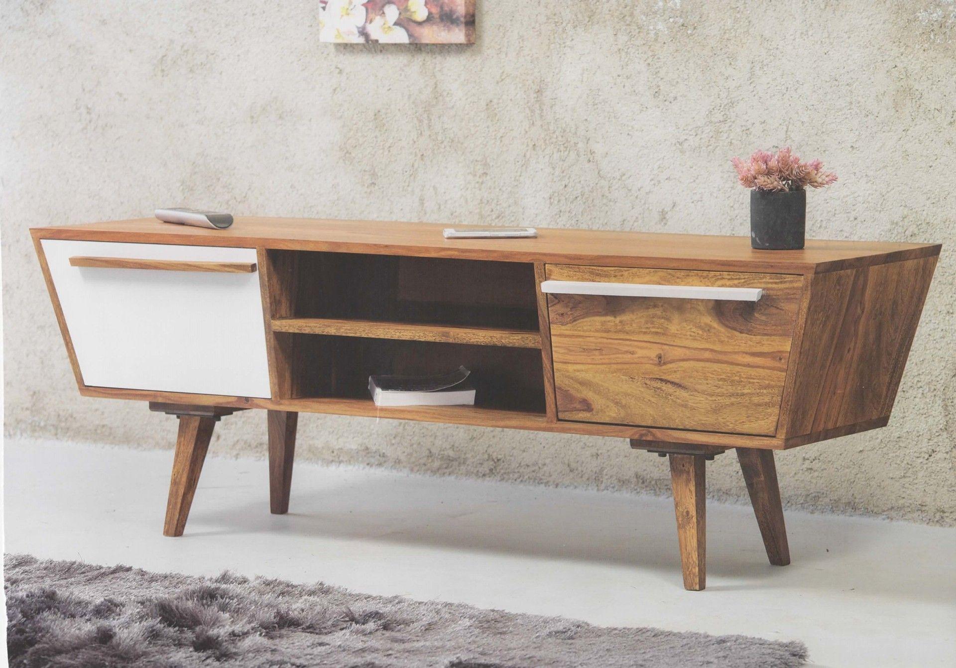 retro tv board sideboard oslo trapez massivholz tv m bel sideboard furniture und interior. Black Bedroom Furniture Sets. Home Design Ideas