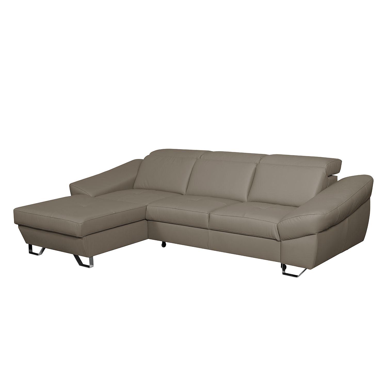 Fredriks Ecksofa Saltia I Taupe Echtleder 274x81x186 Cm Mit Schlaffunktion Und Bettkasten In 2020 Ecksofas Sofa Big Sofa Kaufen
