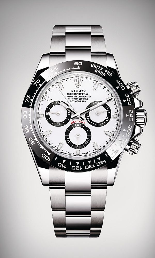 Rolex Cosmograph Daytona in Oystersteel, with a black