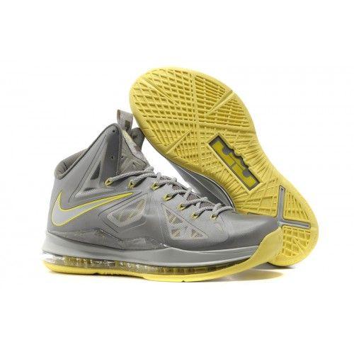 Lebron 10 Yellow Grey Basketball Shoes For Sale � Air Jordan ShoesMichael  Jordan ShoesNike ...