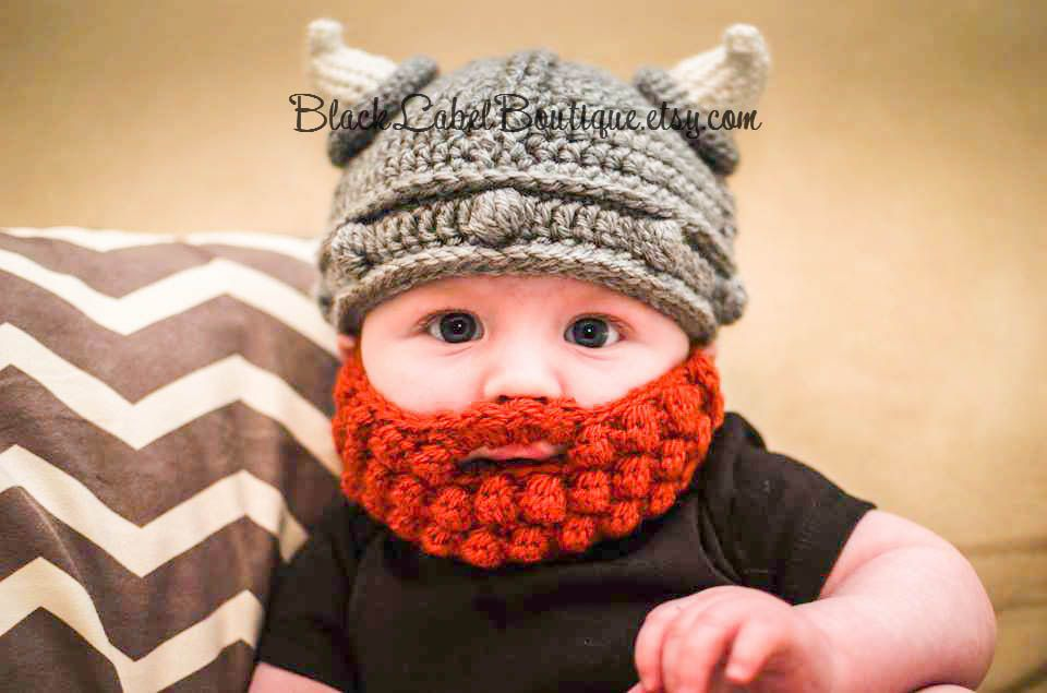 Viking Hat and Beard for Baby, Toddler, Child, Adult | Para bebés ...