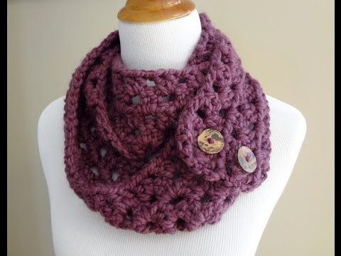 ▷ Episode 19: How to Crochet the Fiona Button Scarf - YouTube ...