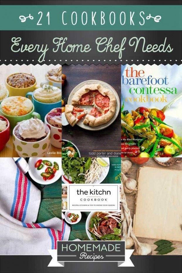 21 Cookbooks Every Home Chef Needs by Homemade Recipes at http://homemaderecipes.com/cooking-101/21-cookbooks-every-home-chef-needs/